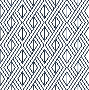 Nextwall Diamond Geometric Peel And Stick Wallpaper Decor Navy Blue Amazon Com