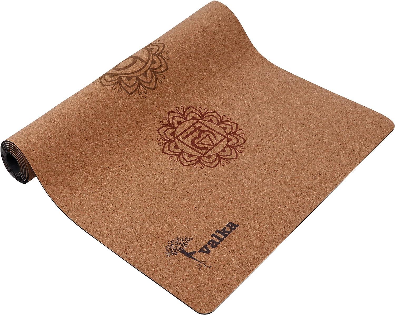 Amazon.com: Valka - Esterilla de yoga de corcho con correa ...