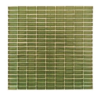 Abolos Glas Mosaik Fliesen Küche Badezimmer Wand Backsplash 5 Blatt  Amzepifgdg 5, Grün