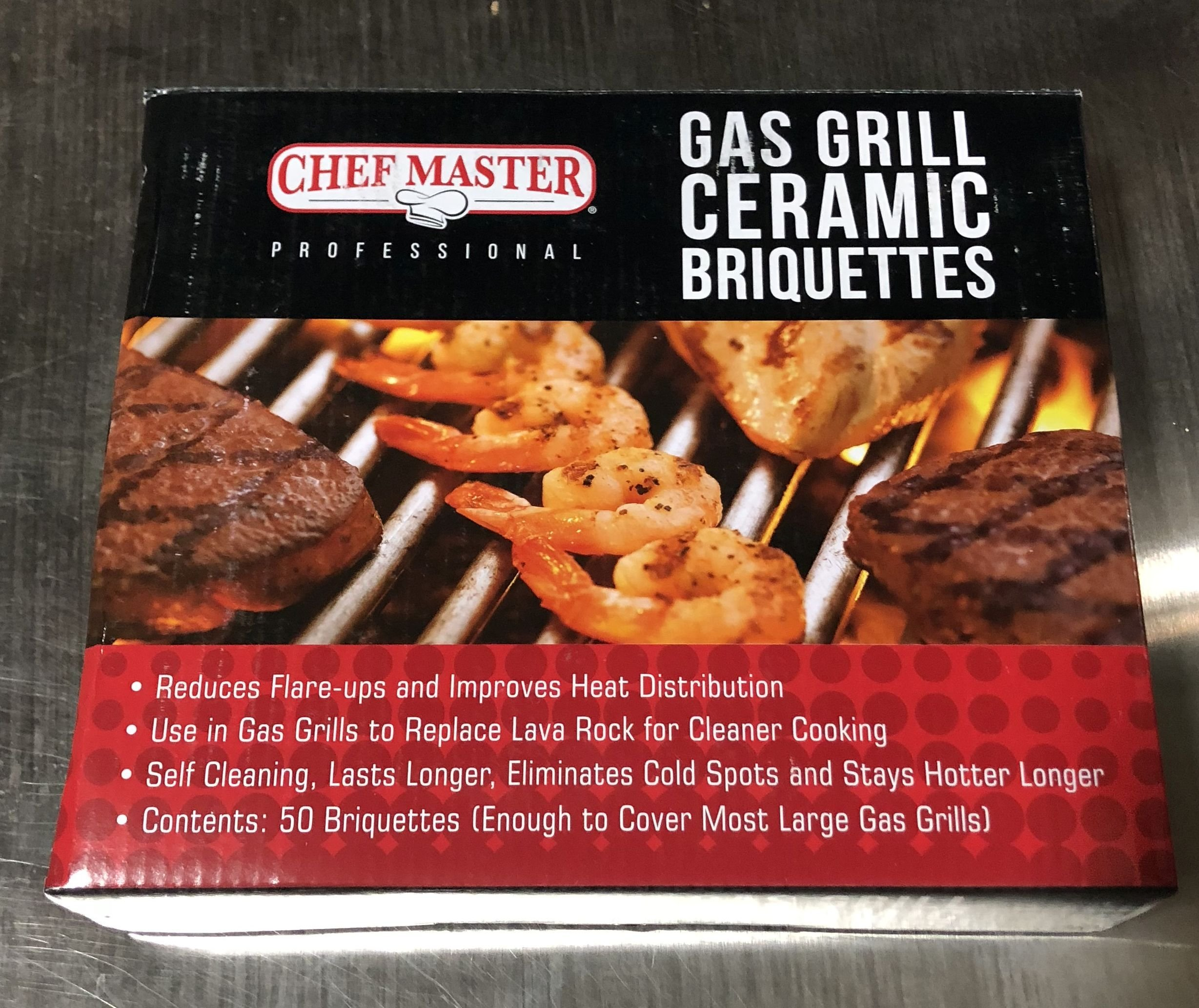Chef-Master Not Available 05004cm Gas Grill Ceramic Briquettes