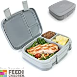 Bentgo Fresh (Gray) – Leak-Proof & Versatile 4-Compartment Bento-Style Lunch Box – Ideal for Portion-Control and Balanced Eating On-the-Go – BPA-Free and Food-Safe Materials