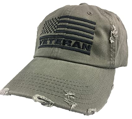 Image Unavailable. Image not available for. Color  Veteran American Flag Hat 7bda369bd47