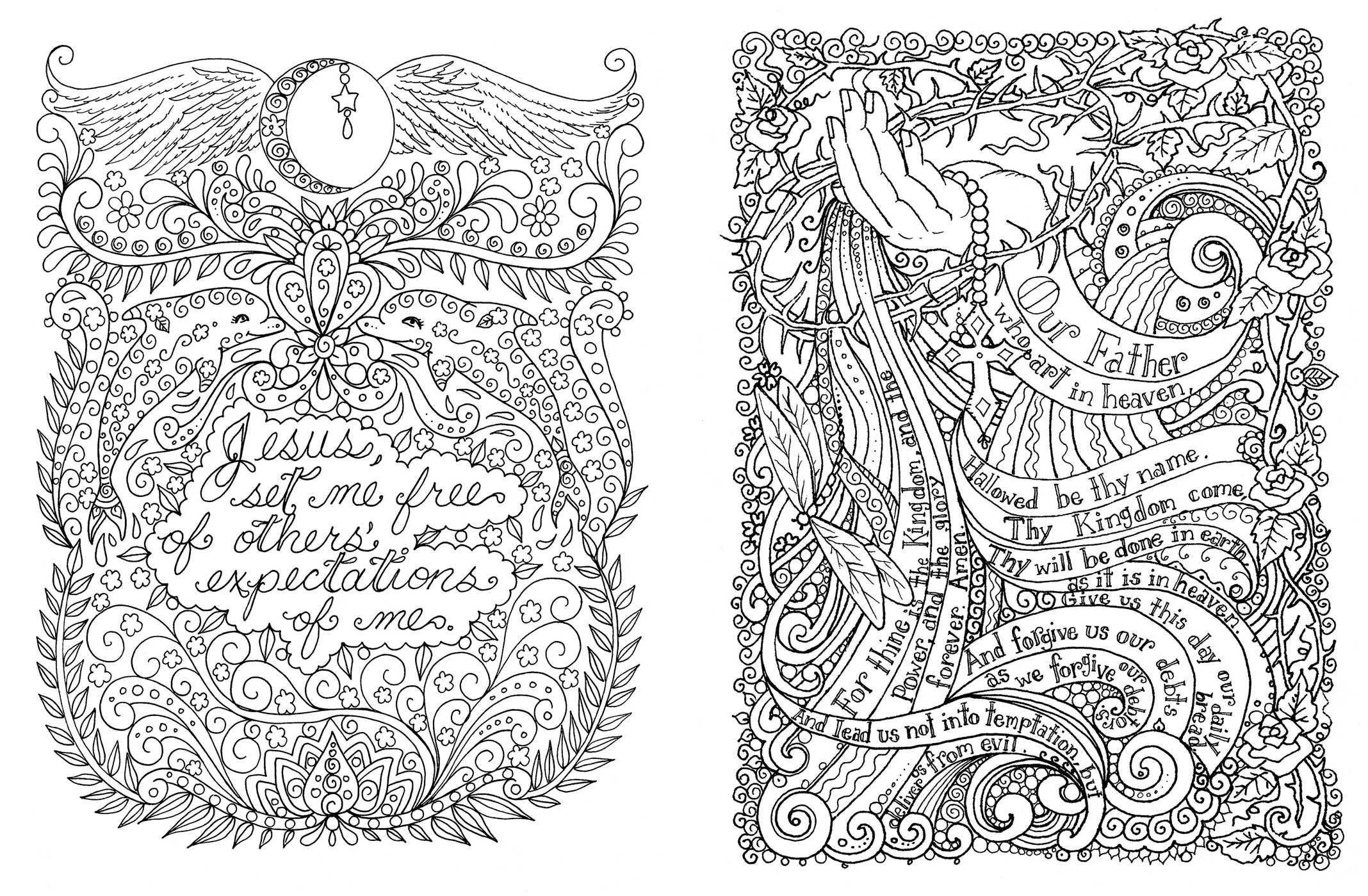 Posh Adult Coloring Book Prayers for Inspiration & Peace Posh