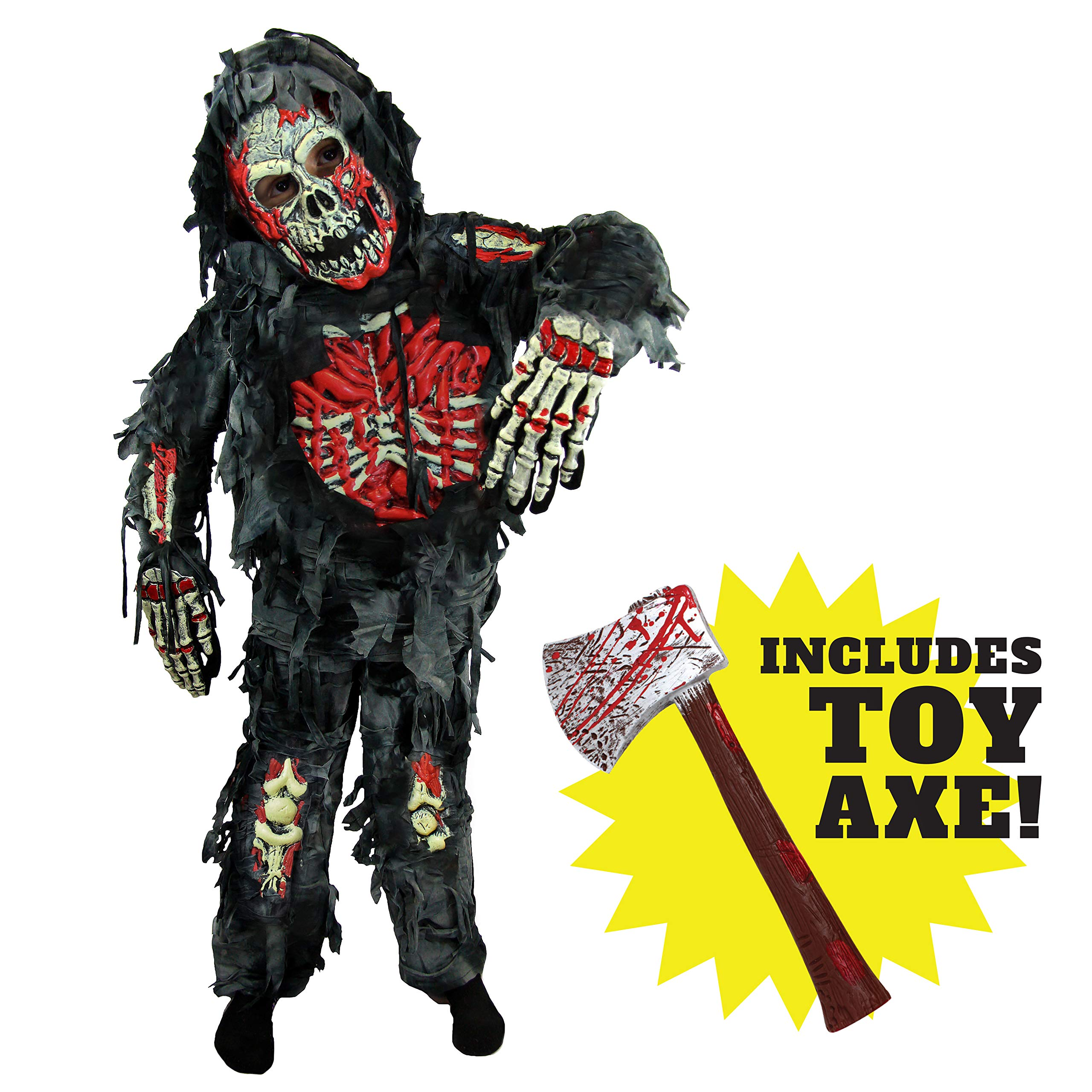 Spooktacular Creations Zombie Deluxe Costume for Child with Bloody Axe (M(8-10)) by Spooktacular Creations