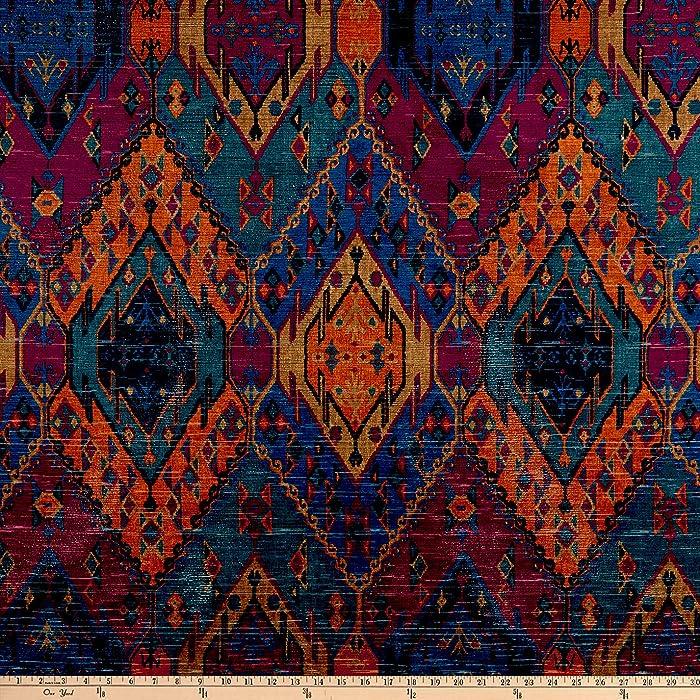 Morgan Fabrics Morgan Home Running Bear Velvet, Yard, Jewel