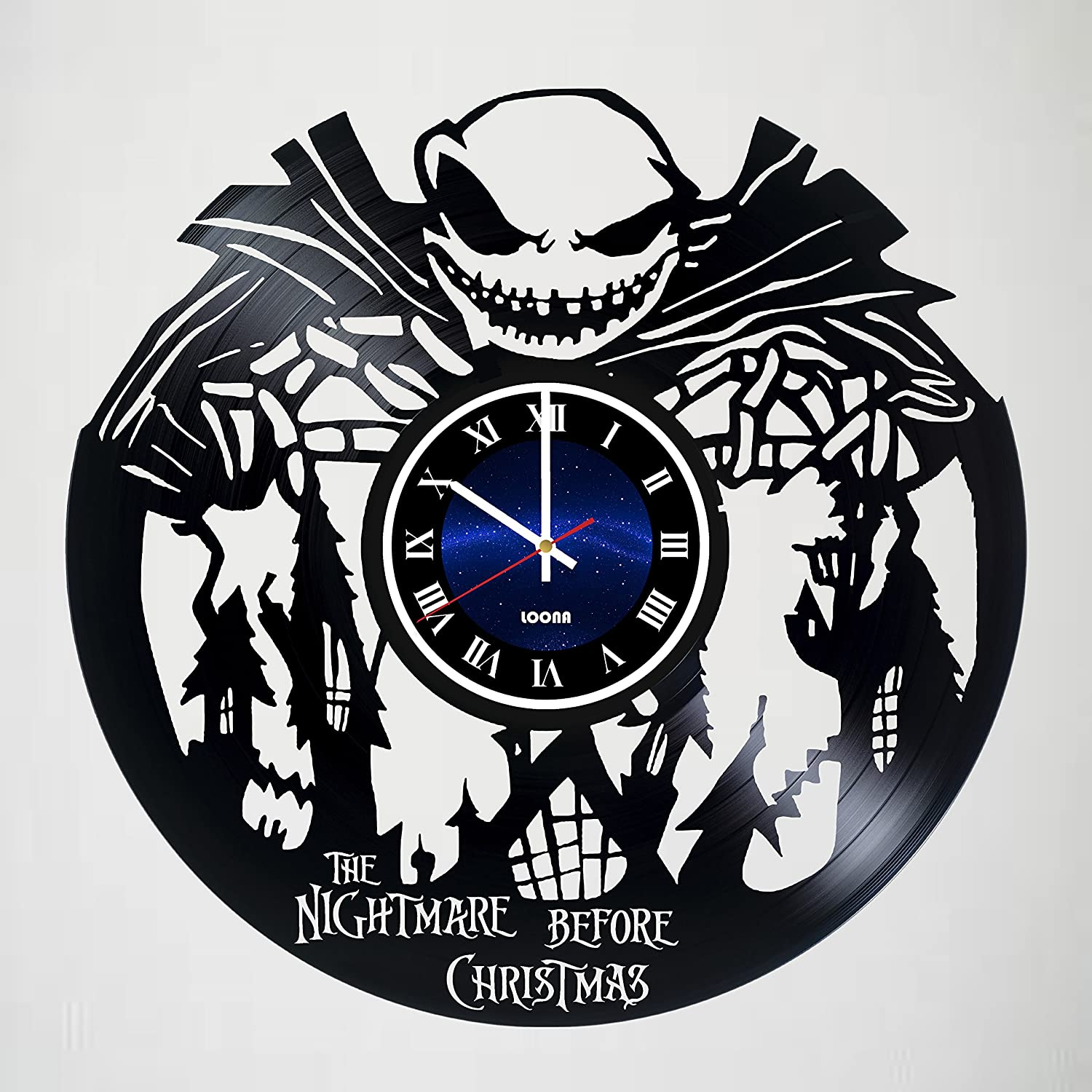 Amazon.com: The Nightmare before Christmas - Vinyl Wall Clock ...