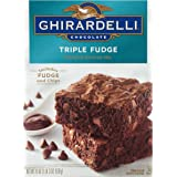 Ghirardelli Chocolate Triple Fudge Brownie Mix, 19 Ounce (Pack of 12)