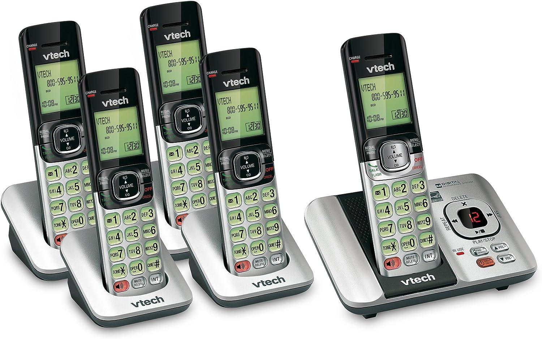 Vtech 5 Terminal DECT 6.0 – con teléfono Inalámbrico (1) CS6529 – 4 sistema de teléfono y (1) CS6509 microteléfono: Amazon.es: Electrónica