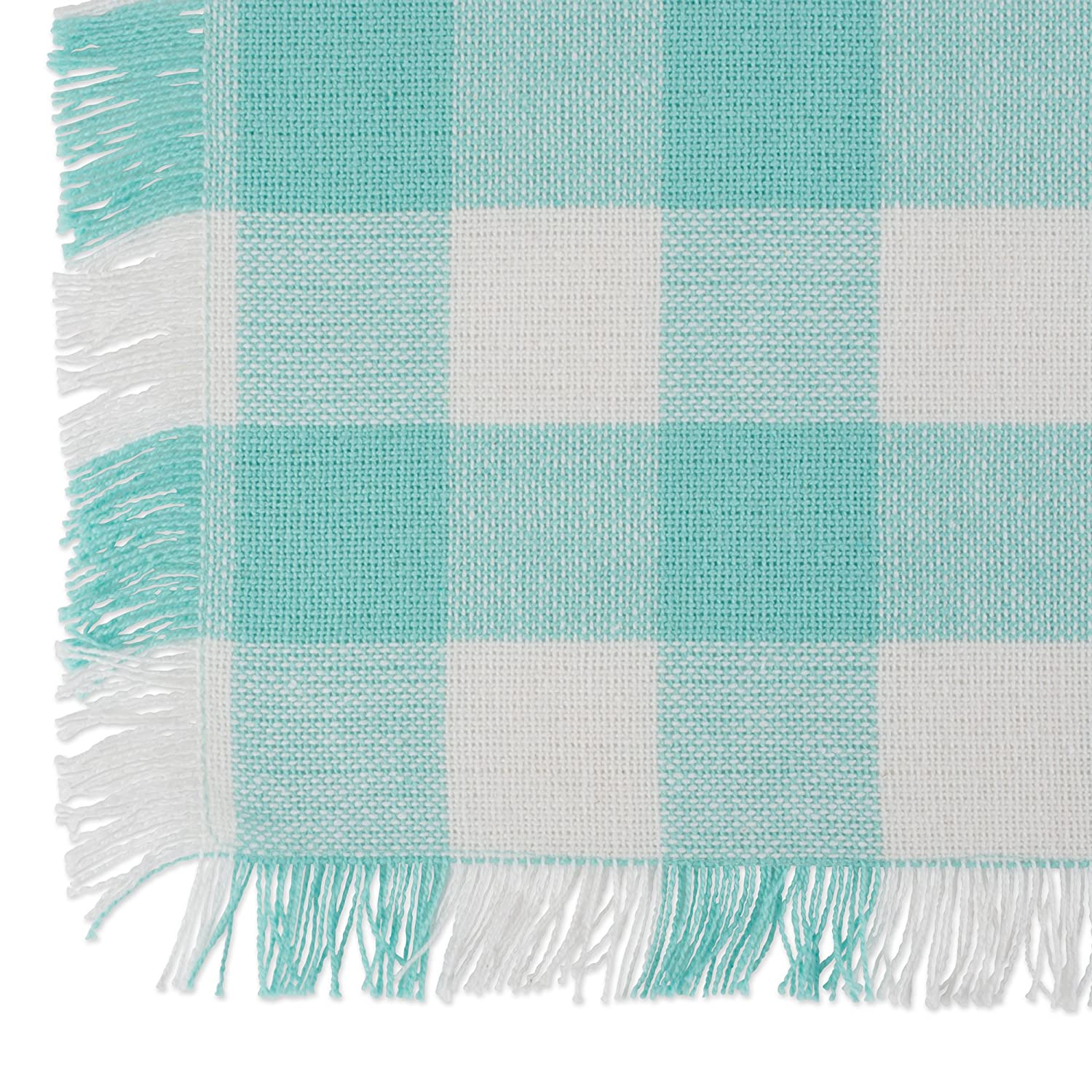 DII Cotton Woven Heavyweight Table Runner with Decorative Fringe for Spring Outdoor Parties 14x72 /& Everyday Use Summer Aqua Solid CAMZ10434 14x72 Aqua Solid /& Everyday Use Family Dinners