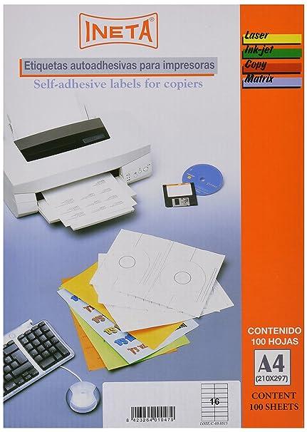 Ineta 1330119 - Etiquetas para fotocopiadora