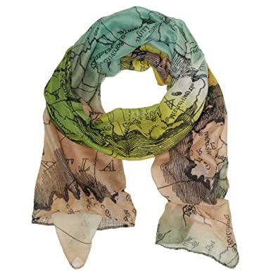 Bucasi global world map scarf at amazon womens clothing store bucasi global world map scarf gumiabroncs Gallery