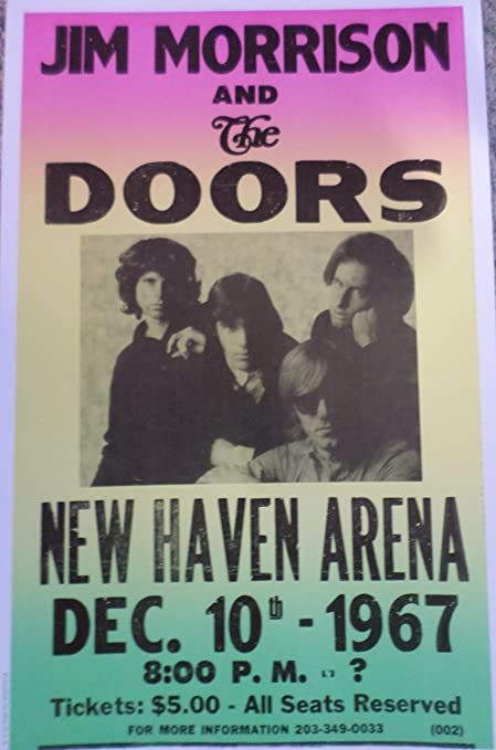 Jim Morrison and The Doors Concert at The New Haven Arena 1967 Poster & Amazon.com: Jim Morrison and The Doors Concert at The New Haven ...