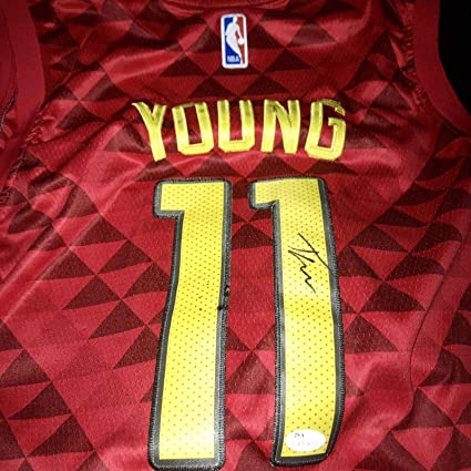 ad818e39485 Autographed Trae Young Jersey - JSA Certified - Autographed NBA Jerseys
