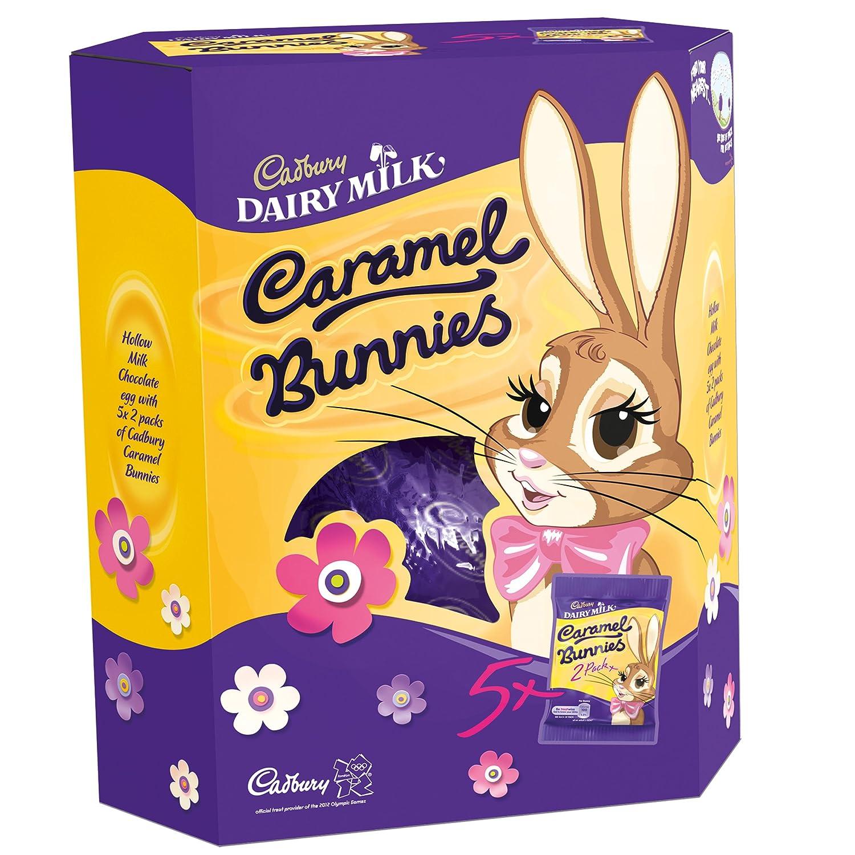 cadbury caramel bunnies giant easter egg 496g box of 4 amazon