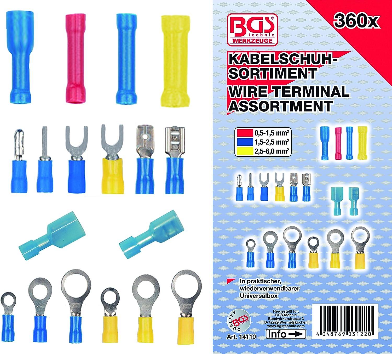 Kabelschuh-Sortiment BGS 14105 160-tlg.