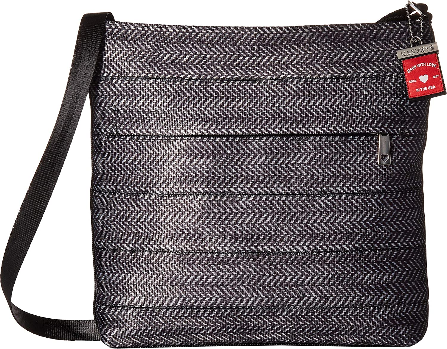 eb354ea751fc Harveys Seatbelt Bags Black Herringbone Streamline Crossbody Handbag   Amazon.co.uk  Shoes   Bags