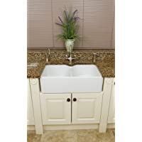Fine Fixtures Berrington Double Bowl Farmhouse Kitchen Sink