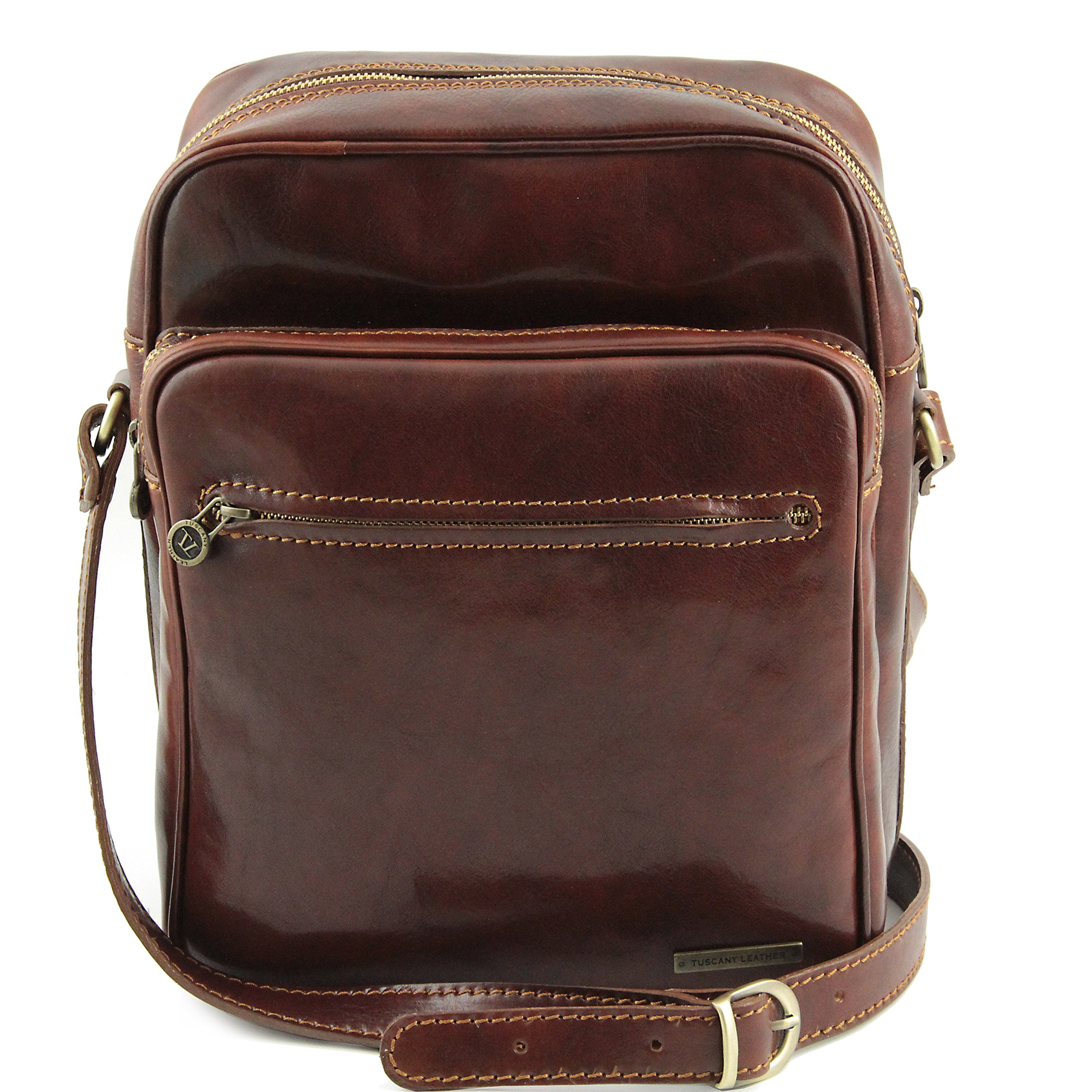 Tuscany Leather Oscar Exclusive Leather Crossbody Bag Brown