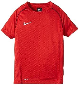 sports shoes 09b17 c1fa8 Nike Jungen Shirt Kurzarm Top Found 12 Short Sleeve Training University  Red/Black/White