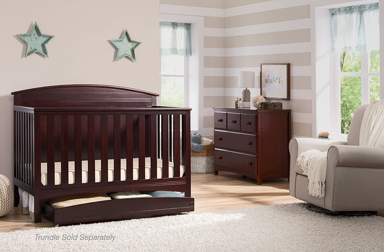 Delta Children Archer Solid Panel 4-in-1 Convertible Baby Crib Grey