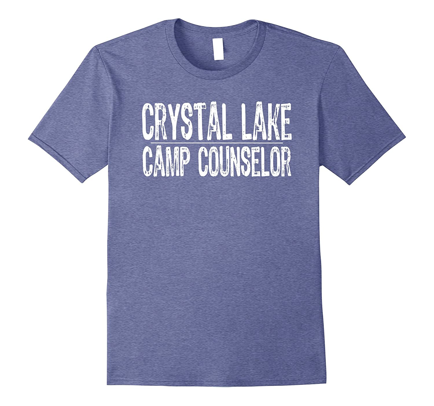 Crystal Lake Camp Counselor T-Shirt Vintage White Text-T-Shirt