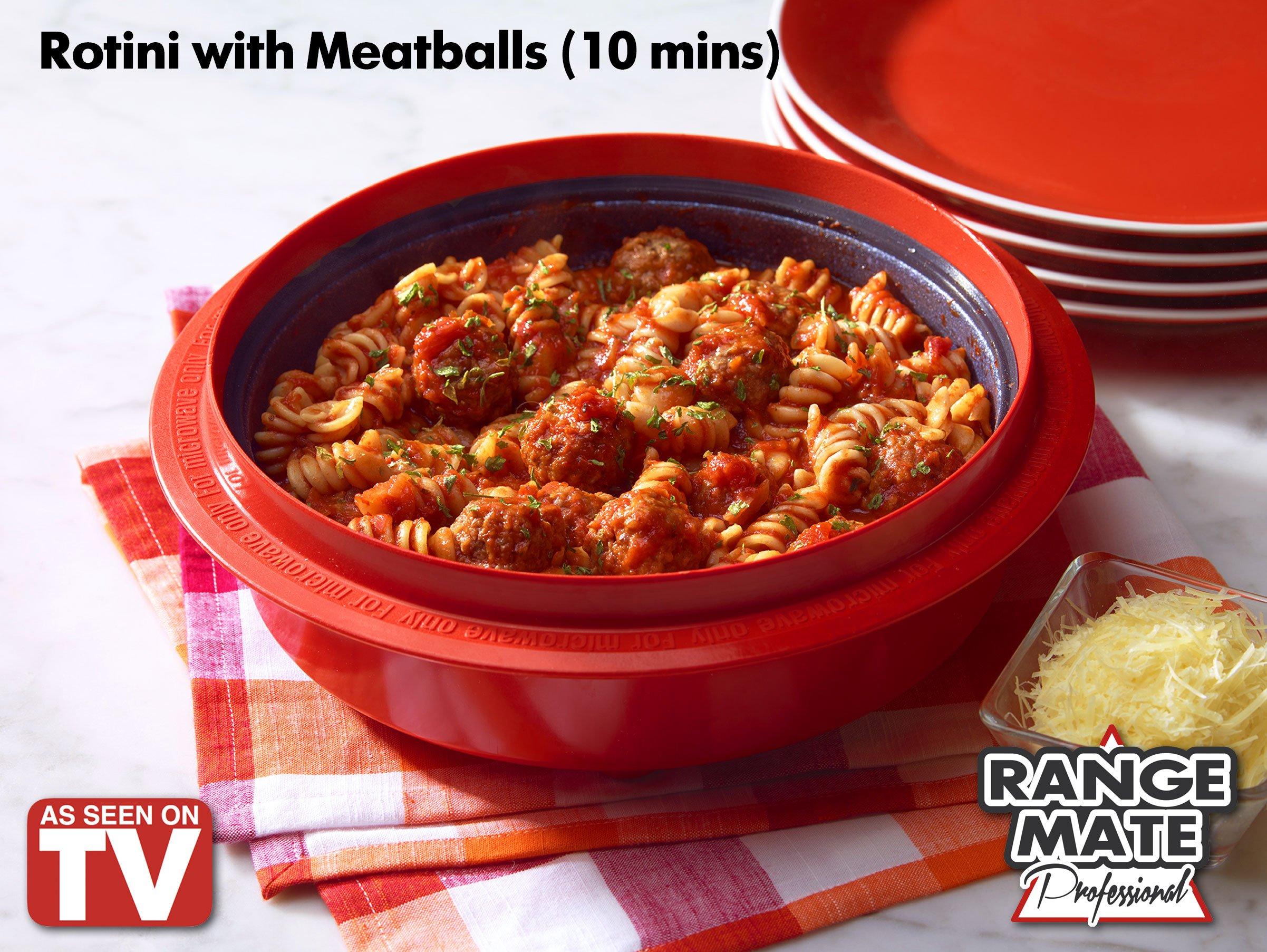 Range Mate Pro Deluxe Nonstick Microwave 7-Piece Grill Pot/Pan Cookware Starter Set ''As Seen On TV'' (Grill, Bake, Roast, Saute, Steam, Poach, & One Pot Meals)