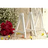 Mini Easel packs of 3, 6 & 10. White easels for wedding name place cards (12cm tall)