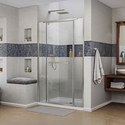 Dreamline Vitreo X 46 46 34 In Width Frameless Pivot Shower Door
