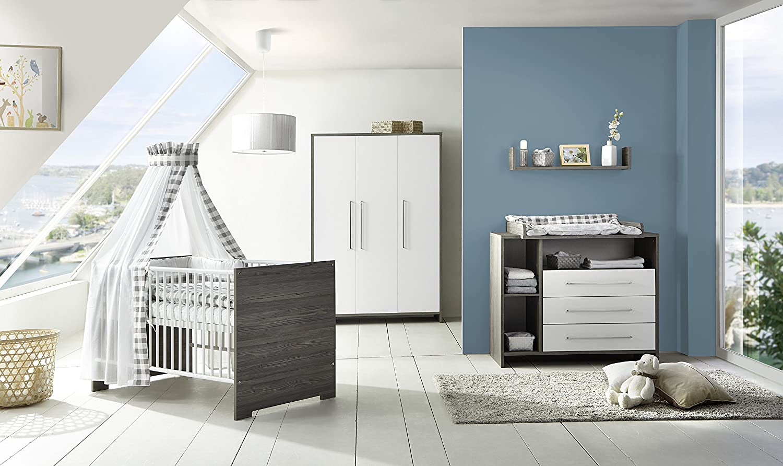 Schardt 11 563 32 00 Komplett Kinderzimmer Eco Fleetwood, Kombi - Kinderbett, 70 x 140 cm, weiß