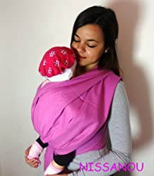 porte bébé ECHARPE DE PORTAGE neuve LILAS idée cadeau naissance - NISSANOU e96ed7540c1