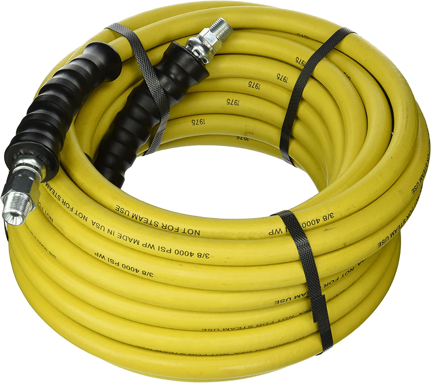 Pressure Washer Hose 50/' w// Couplers 4000 PSI BLACK Wire Braid EXTRAS INCLUDES