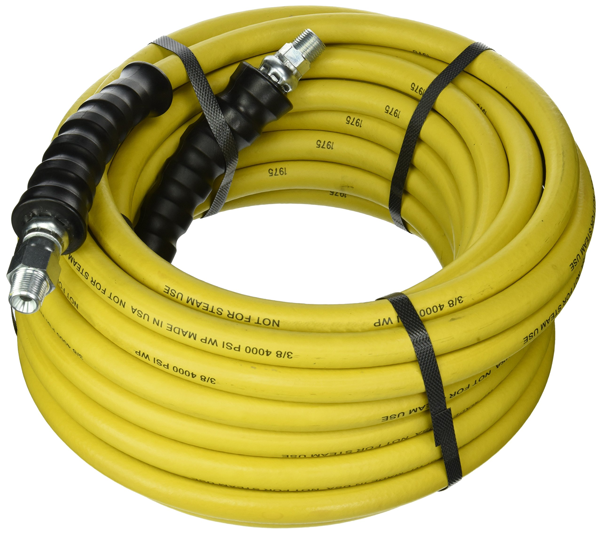 Good Year 12630 Rubber Pressure Washer Hose, 50' x 3/8'', Yellow