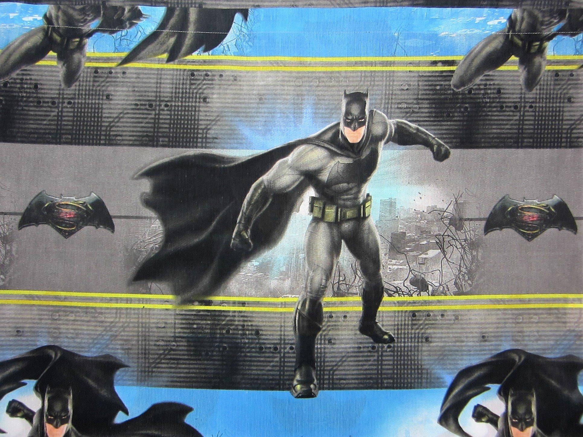 Batman v Superman Crime and Punishment (FLAT SHEET ONLY) Size TWIN Boys Girls Kids Bedding