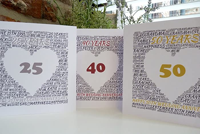 Amazon personalized anniversary card th th th th
