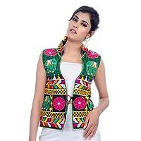 Banjara India Kutchi Waist Length Jacket [Haathi]