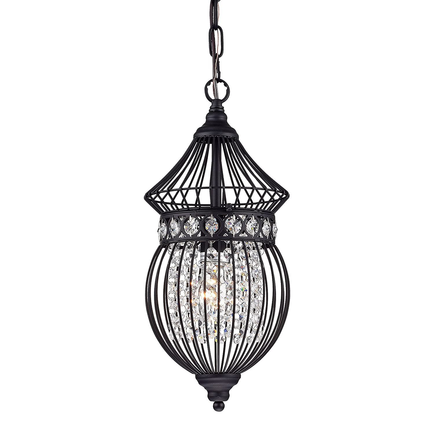 Black chandeliers crystal chandelier lighting farmhouse lighting fixtures 1 light 17045