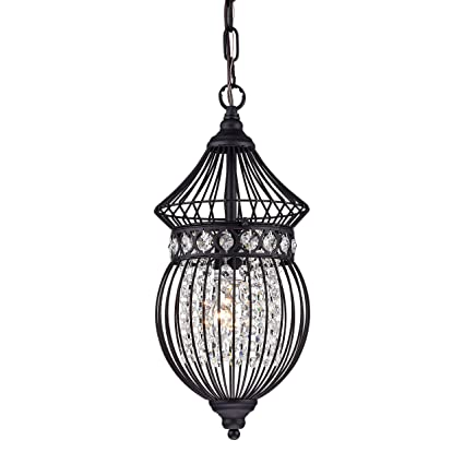 Crystal chandelier lighting french country chandelier birdcage black crystal chandelier lighting french country chandelier birdcage black wrought iron 1 light mozeypictures Images