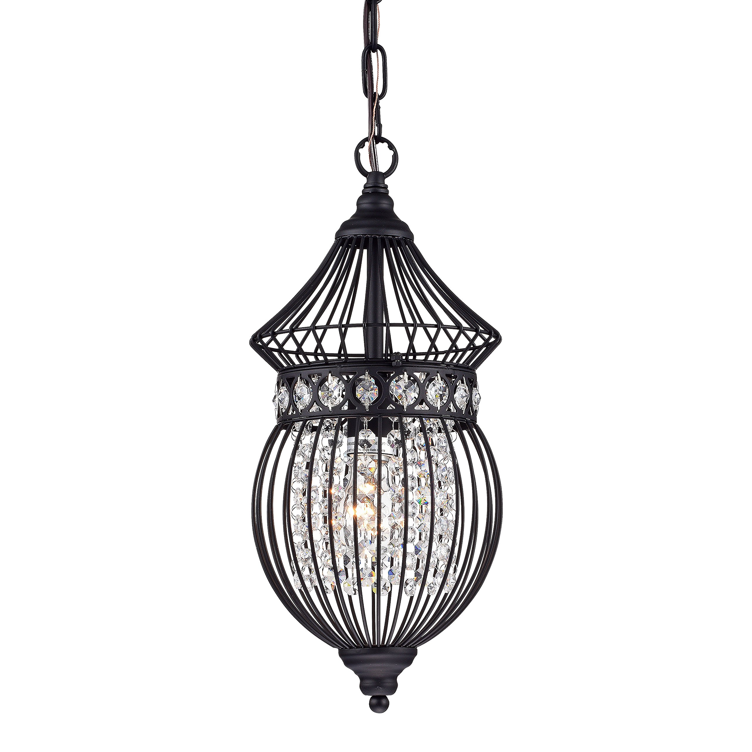 Black Chandeliers Crystal Chandelier Lighting Farmhouse Lighting Fixtures 1 Light 17045 by LaLuLa (Image #1)