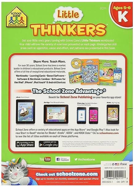 Amazon.com: School Zone Preschool 32 Pages Little Thinkers ...