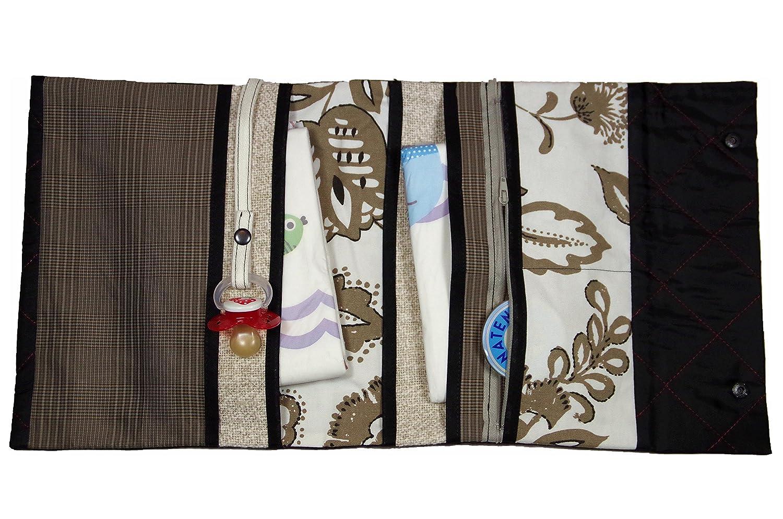 Bittersüß Wickeltasche -100% Handgefertigt in Düsseldorf- Windeltasche für unterwegs, Windeletui TANJA 006 (Maße zusammen geklappt: ca.22cm x 28cm)
