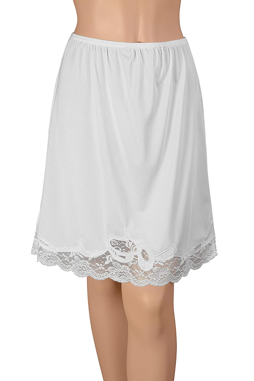 16 Nylon Half Slip With Novelty Lace 16 Nylon Half Slip With Novelty Lace HK304 Gemsli Elegance