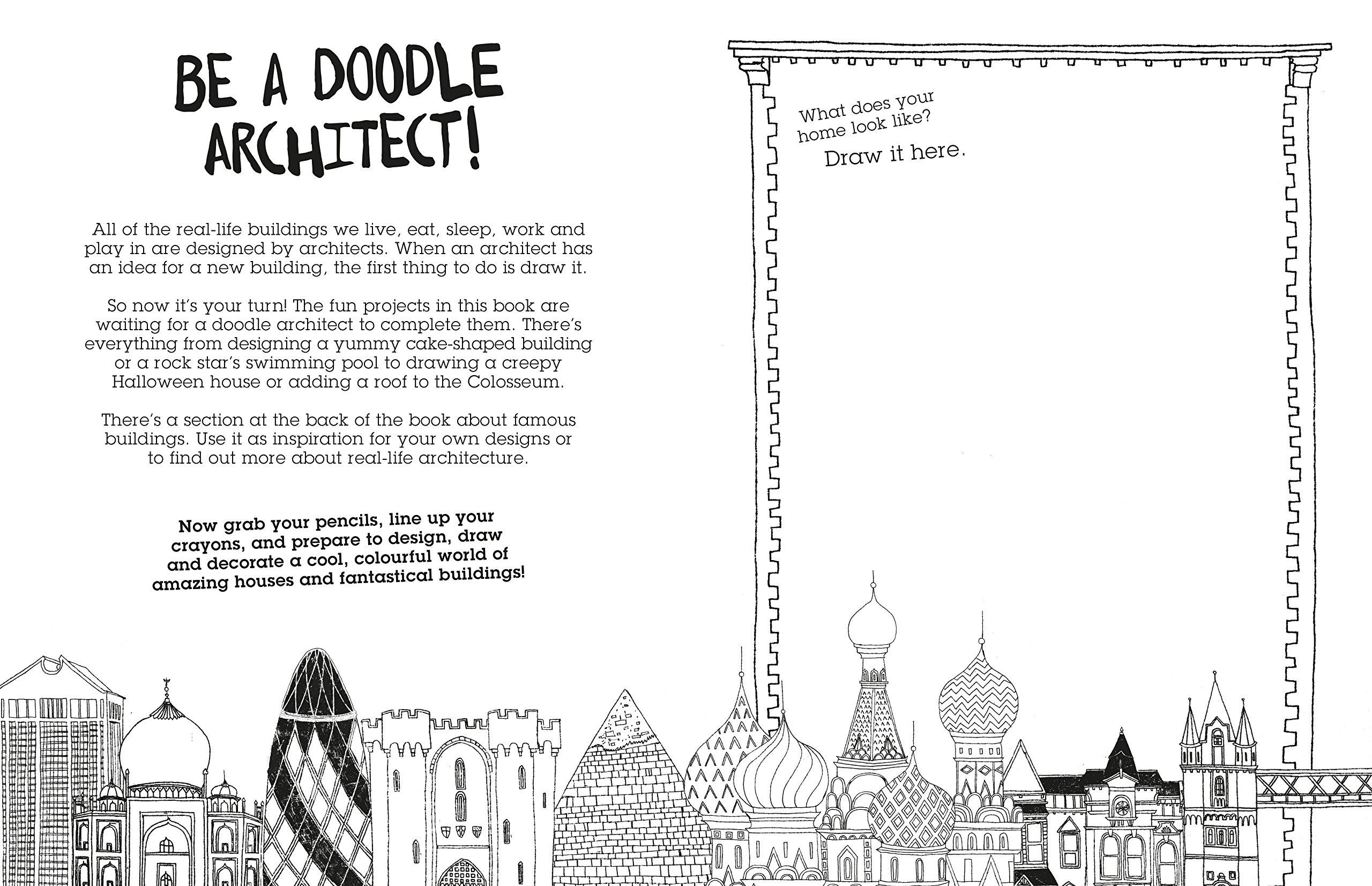 make buildings a doodle design activity book charlotte farmer make buildings a doodle design activity book charlotte farmer 9781782403272 amazon com books