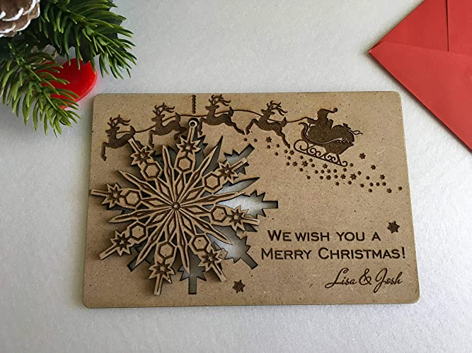 Amazon.com: Personalized Christmas Card We Wish You a Merry ...