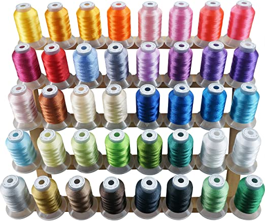 Kit De Hilo De Poliéster Para Máquina De Bordado De 40 Colores New Brothread De 500 Ms Bobinas Para Máquinas De Bordado Y De Coser Brother Babylock Janome Singer Pfaff Husqvarna