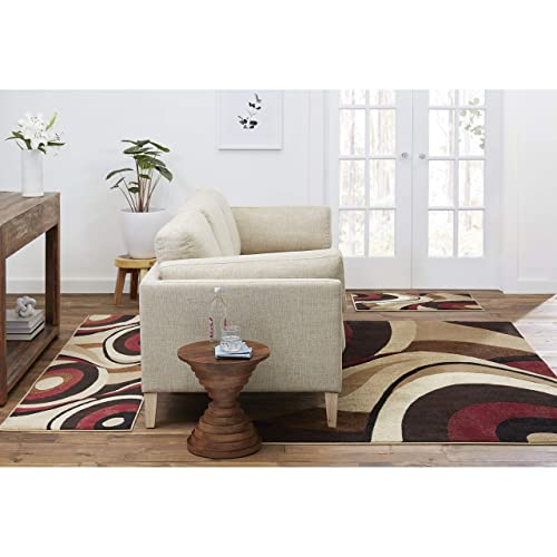 Home Dynamix HD5382 Tribeca Collection 3-Piece Area Rug Set, Brown Red