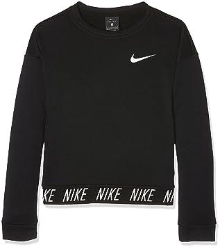 Nike Girls Dry Training Crew, Sudadera Nike Dri-FIT para niña, Negro