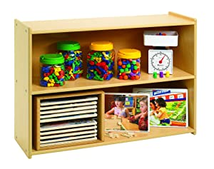 Angeles Value Line Narrow 2-Shelf Storage, Daycare Furniture, Kids Bookshelf & Storage, Wood Book/Toy Organizer, for Homeschool/Montessori/Playroom