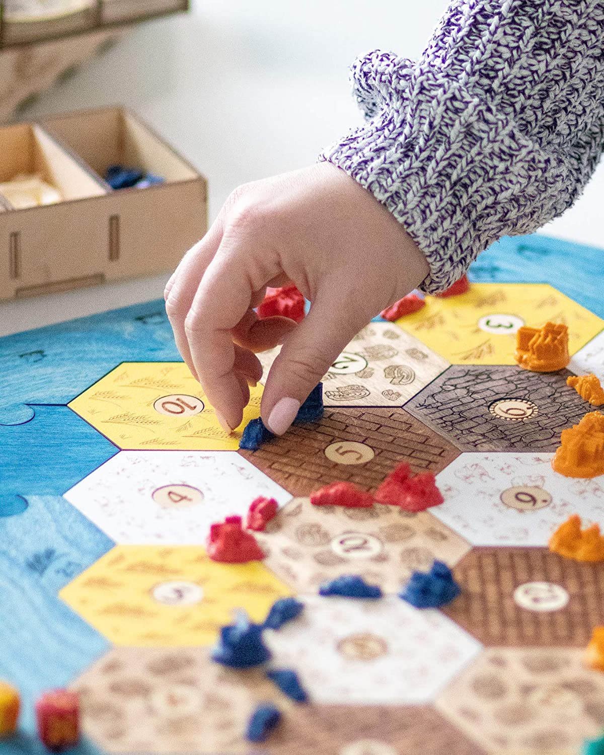 Amazoncom Wooden Board For Catan Game Settlers Of Catan Gifts Card