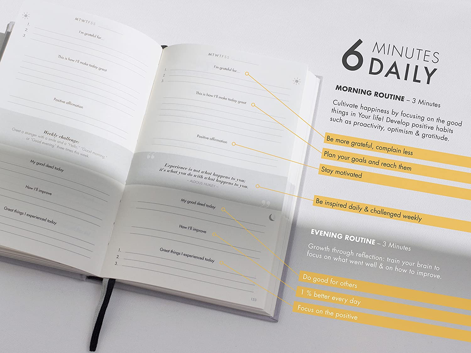 The 6-Minute Diary | 6 Minutes a Day for more Mindfulness, Happiness ...