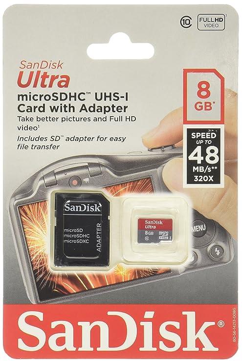 Sandisk 8GB ULTRA MicroSDHC (SDSDQUI-008G-A46)